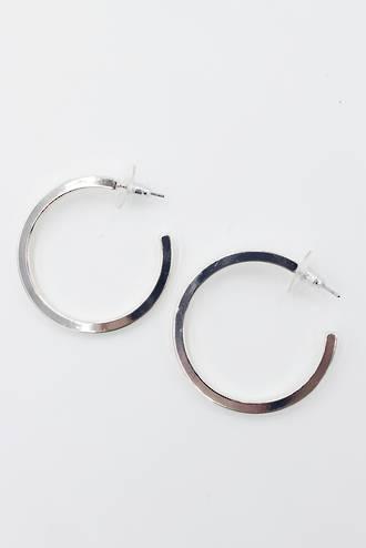 Urban Loop Earrings Silver