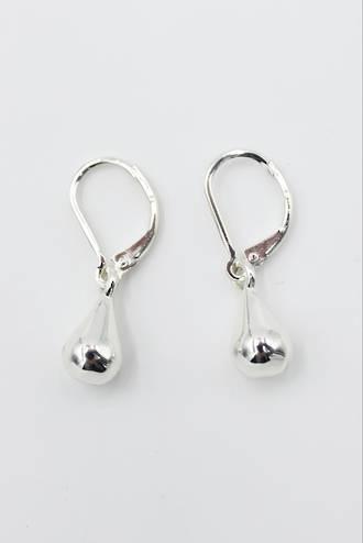Pear Drop Earrings Silver