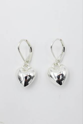 Pixie Heart Earrings Silver