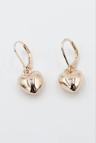 Pixie Heart Earrings Rose Gold
