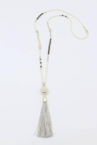 Crème Brulee Tassel Necklace