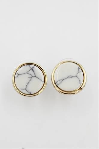 Round Marble Earrings