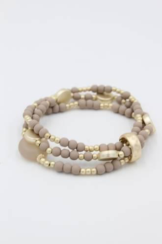 Mocha Bead Bracelet