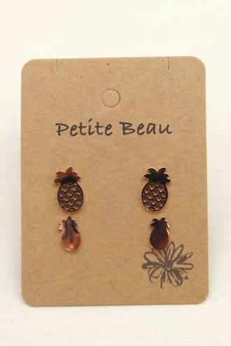 Petite Beau Pineapple Earrings