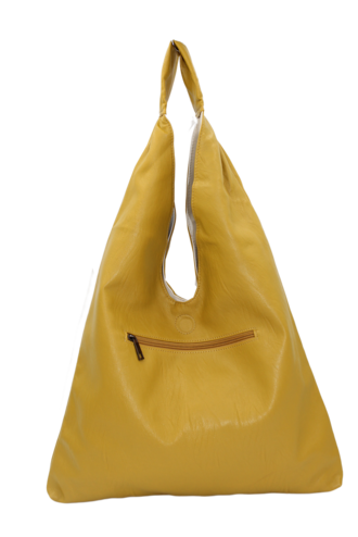 Sling Reversable Mustard & Cream Bag