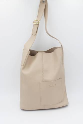 Mason Pocket Handbag Beige