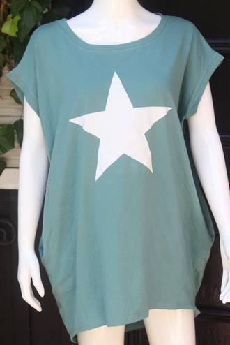 Star Short Sleeve T-Shirt Sage