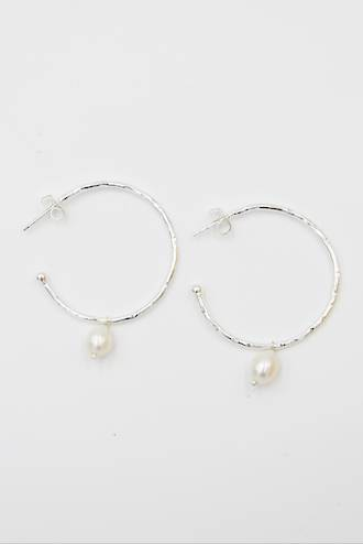 Pearl Loop Earrings