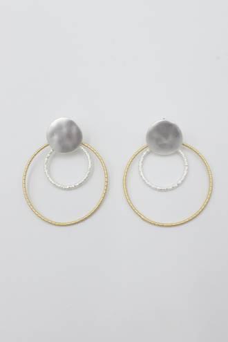 Nadia Two Tone Loop Earrings