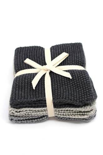 Wash Cloths Set of 3 - Grey