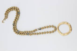Caramel Disc Necklace