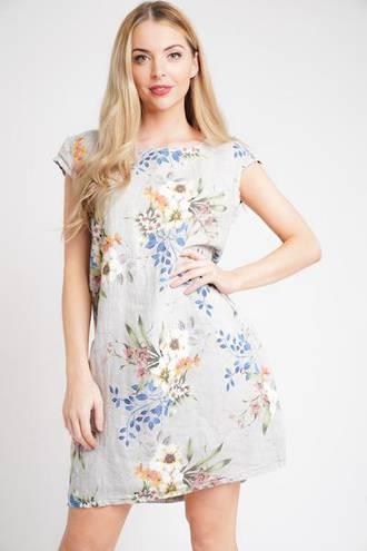 Monique Linen Dress Grey