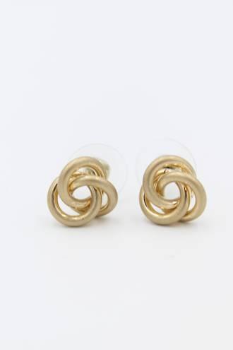 Tangle Rose Gold Earrings