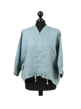 Mia Linen Jacket Soft Green