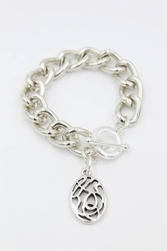 Sasha Silver Fob Bracelet