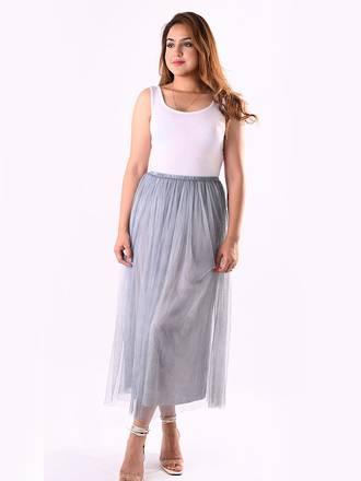 Nicolette Tulle Skirt Silver