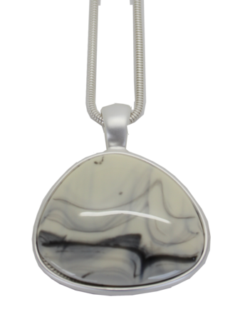 Marble Silver Pendant
