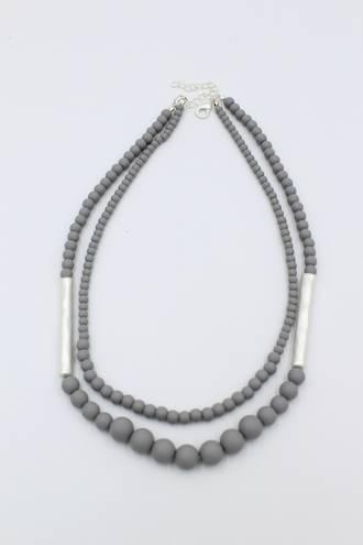 Biscotti Grey Necklace