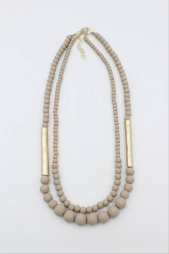 Biscotti Taupe Necklace