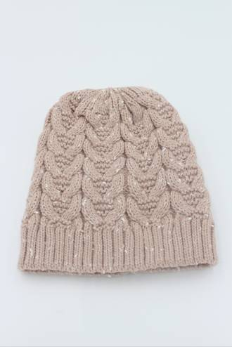 Cable Blush Beanie