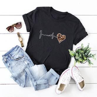 Pulse Heart Cotton T Shirt Black  Pack of 4 (10,12,14,16)
