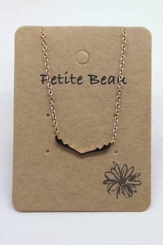 Petite Beau Stainless Steel Reindeer Necklace
