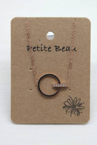 Petite Beau Stainless Steel Eternity Necklace