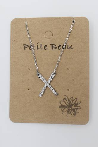Petite Beau Stainless Steel Dimpled Silver Cross