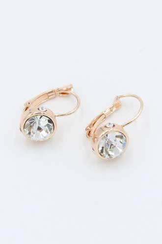 French Clip Diamond Earrings - Rose Gold