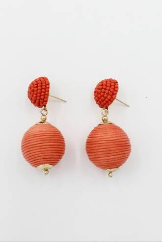 Orange Bauble Earrings