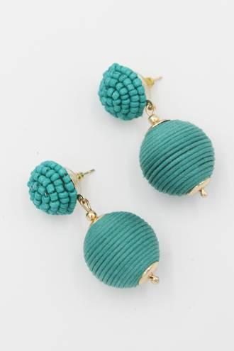 Aqua Bauble Earrings