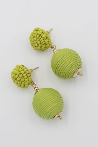 Lime Bauble Earrings