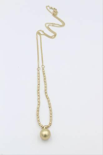 Saturn Antique Gold Necklace