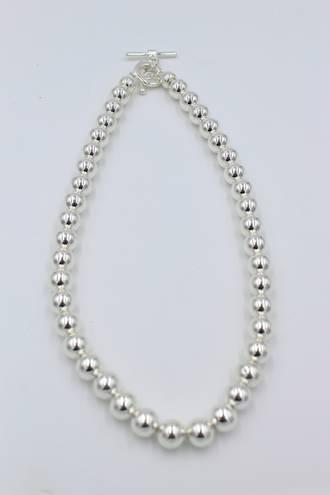 Empire Fob Silver Necklace