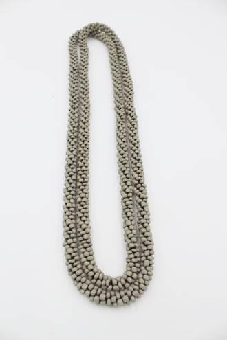 Seedbead Grey Necklace