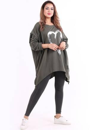 Romance Plus Size Sweater Khaki