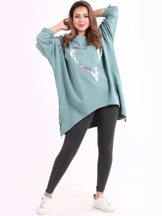 Romance Sweater Plus Size Sage