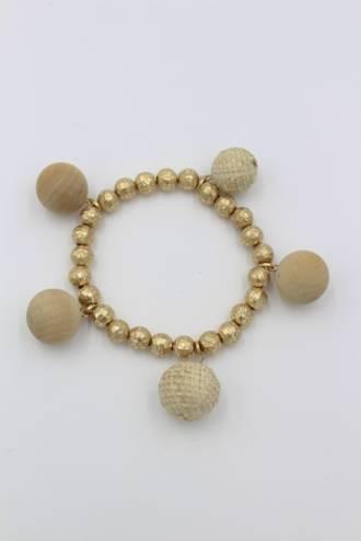 Linen Ball Bracelet