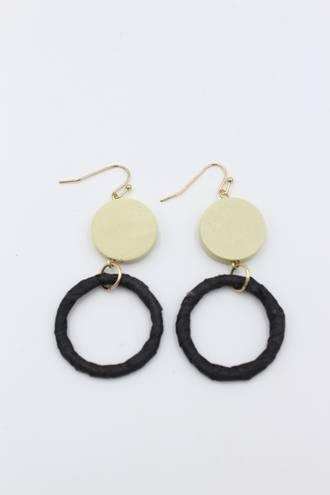 Blackeyed Pea Cream Earrings