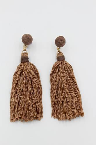 Cocoa Tassel Earrings