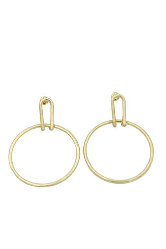 Loophole Gold Earrings