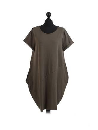 Sasha Cotton Dress Short Sleeve - Khaki