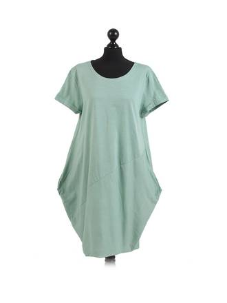 Sasha Cotton Dress Short Sleeve - Spearmint