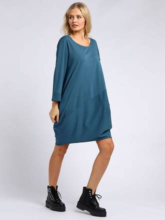Sasha Cotton Long Sleeved Dress Teal