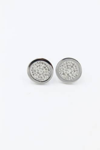 Regency Stud Stainless Steel Earrings