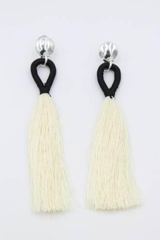 Latte Loop Silver Earrings