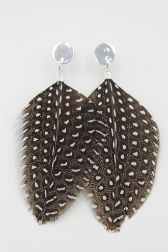 Spotted Feather Earrings