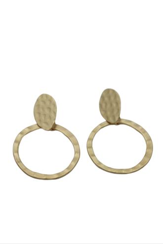 Planet Earth Gold Earrings