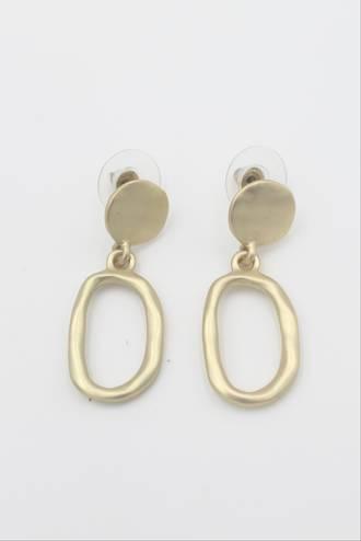 Iris Loop Gold Earrings