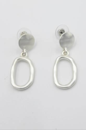 Iris Loop Silver Earrings